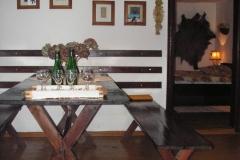 Chata gburska - salon na parterze